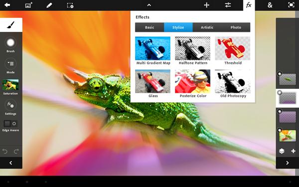 Efectos en Adobe Photoshop Touch
